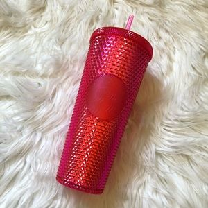STARBUCKS Pink Tumbler Holiday 2019 Pink Cold Cup